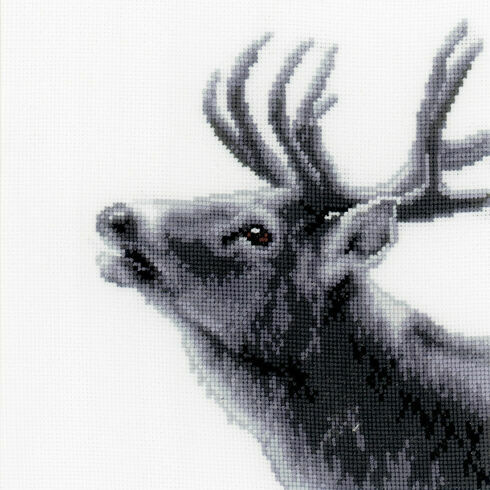 Roaring Deer Cross Stitch Kit