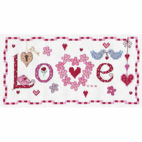 Love Word Cross Stitch Kit