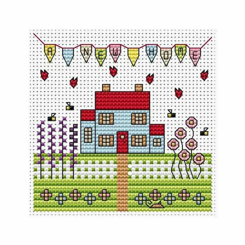 New Home Cross Stitch Card Kit