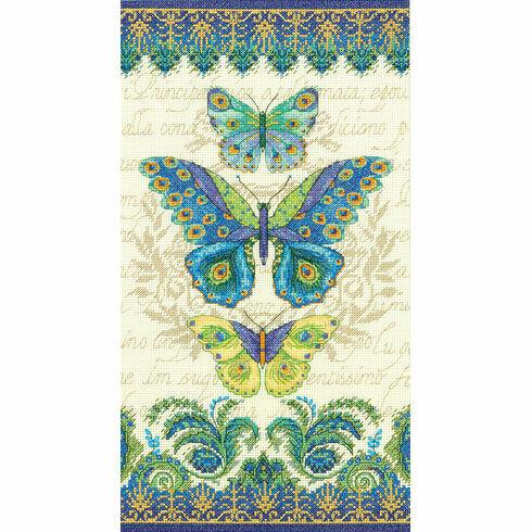 Peacock Butterflies Cross Stitch Kit