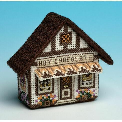 Hot Chocolate 3D Fridge Magnet Cross Stitch Kit