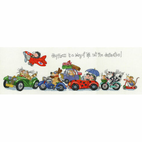 Happiness Is A Way Of Life Cross Stitch Kit