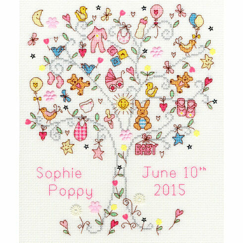 Love Baby Girl Cross Stitch Kit