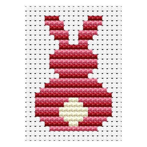 Easy Peasy Bunny Rabbit Cross Stitch Kit