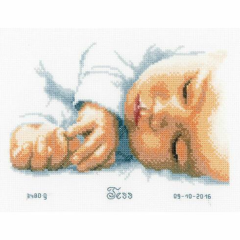 New Born Birth Sampler Cross Stitch Kit