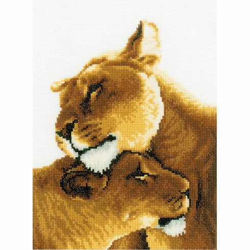 Lion Friendship Cross Stitch Kit