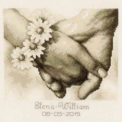 Just Married Wedding Record Cross Stitch Kit