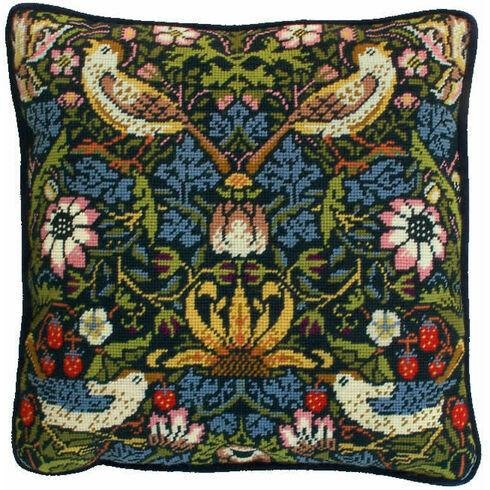 William Morris Strawberry Thief Tapestry Cushion Panel Kit