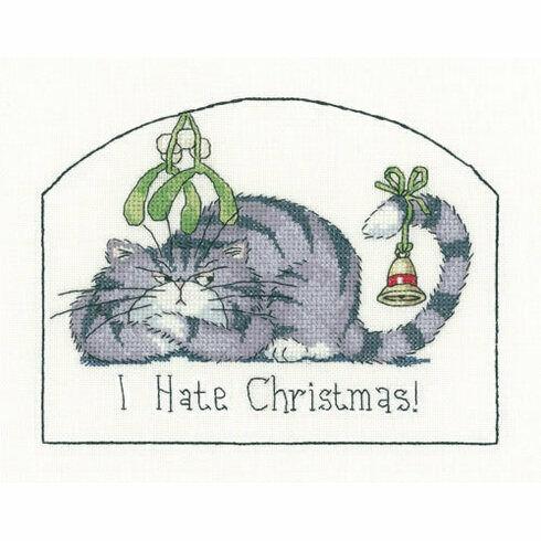 I Hate Christmas Cross Stitch Kit