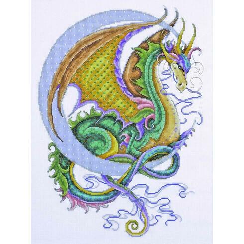 Celestial Dragon Cross Stitch Kit