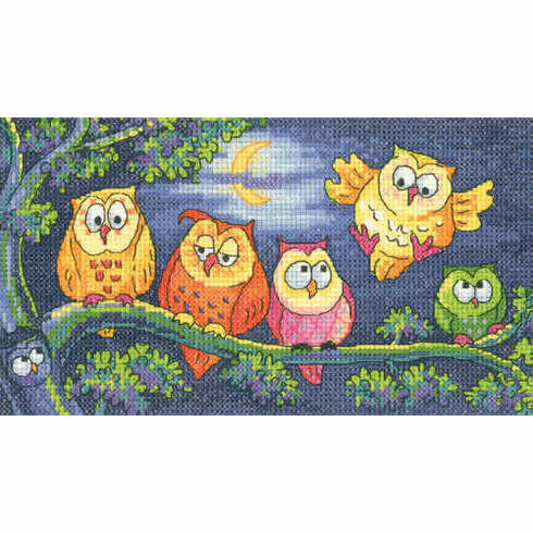 Hoot Of Owls Cross Stitch Kit