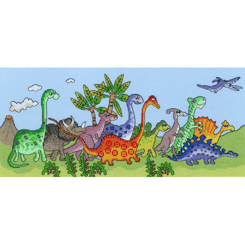 Dinosaur Fun Cross Stitch Kit