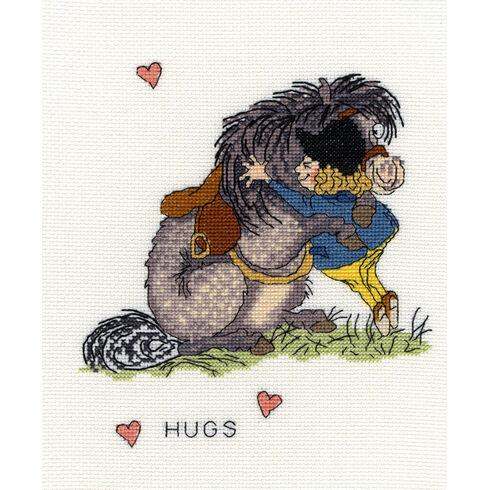 Thelwell Hugs Cross Stitch Kit