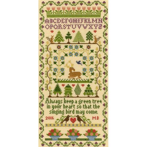 Green Tree Cross Stitch Kit