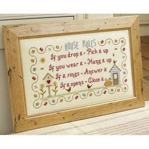 House Rules Cross Stitch Kit