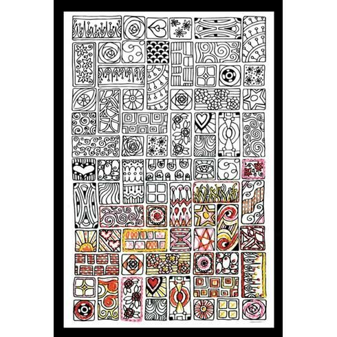 Design Works Cubist - Zenbroidery Fabric Pack
