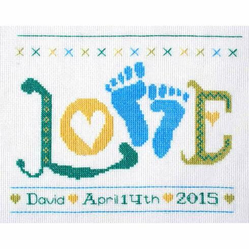 Love Baby Boy StitchKits Cross Stitch Kit