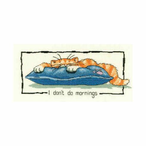 I Don't Do Mornings Cross Stitch Kit