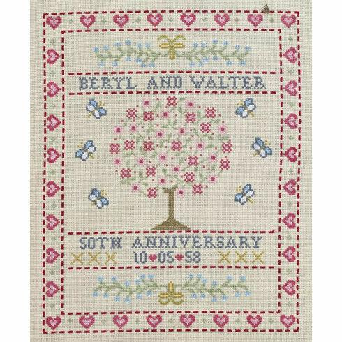 Folk Anniversary Sampler Cross Stitch Kit