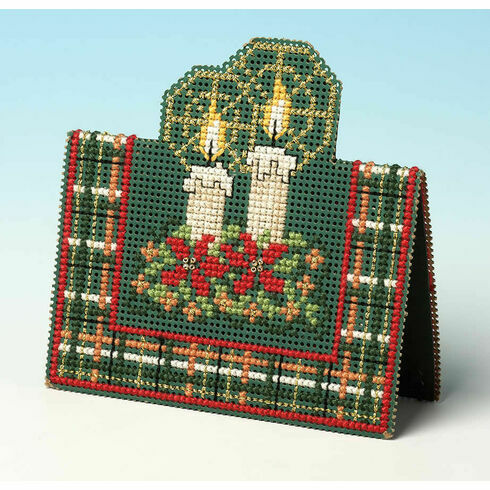 Christmas Candles 3D Cross Stitch Card Kit