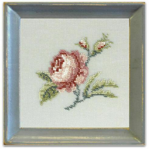 Antique Rose Beadwork Embroidery Linen Kit