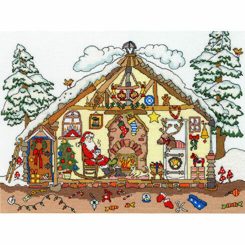 Cut Thru' Christmas Bothy Cross Stitch Kit