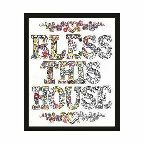 Zenbroidery Bless This House Fabric Pack