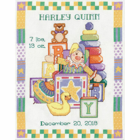 Toys Birth Sampler Cross Stitch Kit