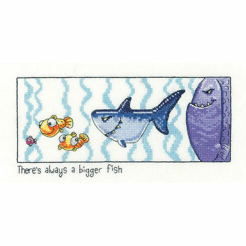 Always Bigger Fish Cross Stitch Kit