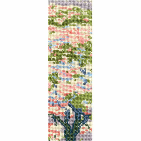 A Tree In Blossom Bookmark Cross Stitch Kit