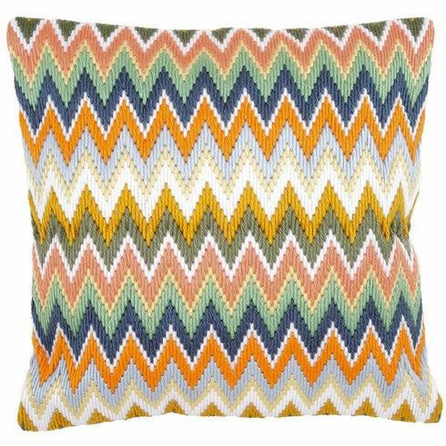 Zigzag Long Stitch Cushion Panel Kit