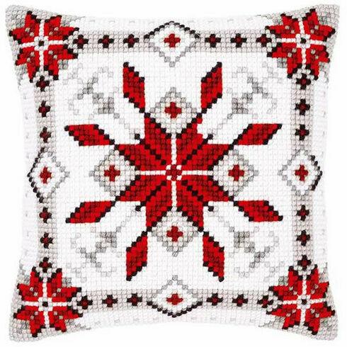 Snow Crystal 1 Chunky Cross Stitch Cushion Panel Kit