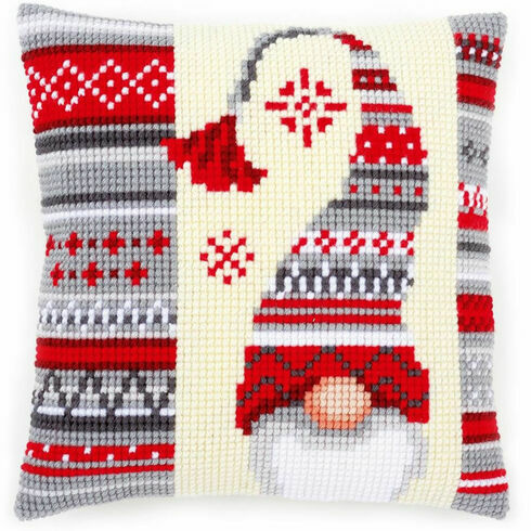 Christmas Elf 2 Chunky Cross Stitch Cushion Panel Kit