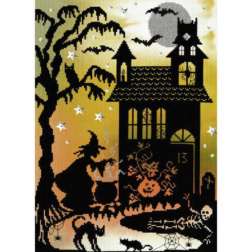 Pumpkin House (P) Cross Stitch Kit