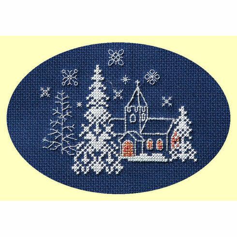 Let It Snow Cross Stitch Christmas Card Kit
