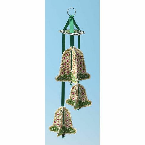 Golden Bells Sparkler 3D Cross Stitch Kit
