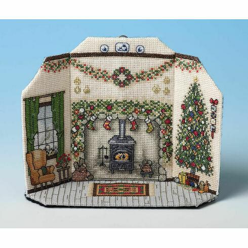 Christmas Morning Room Scene 3D Cross Stitch Kit