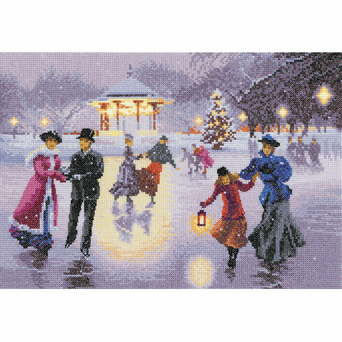 Christmas Skaters Cross Stitch Kit