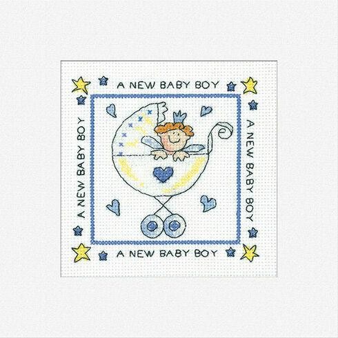 A New Baby Boy Cross Stitch Card Kit