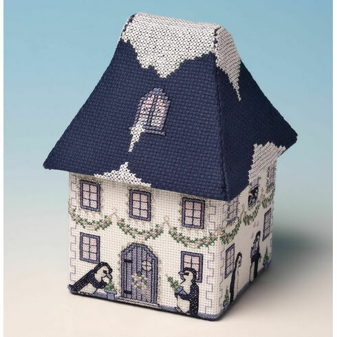 Penguin Hall Box 3D Cross Stitch Kit