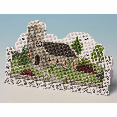 Church Card 3D Cross Stitch Kit