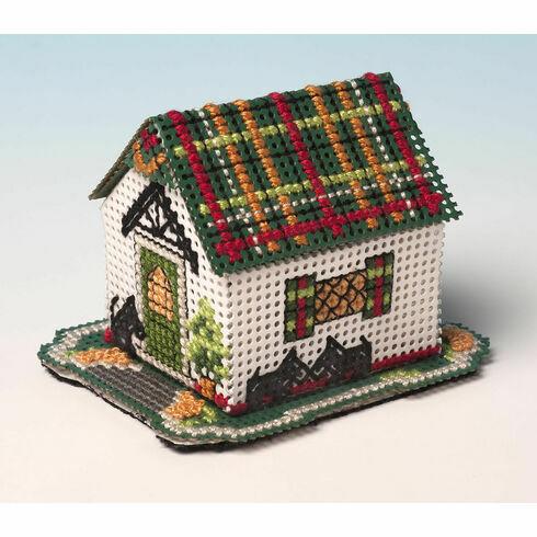 Tartan Cottage 3D Cross Stitch Kit