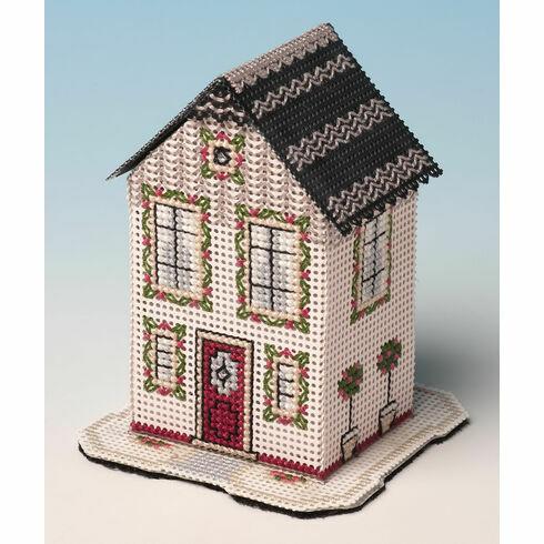 Rose Tree House 3D Cross Stitch Kit