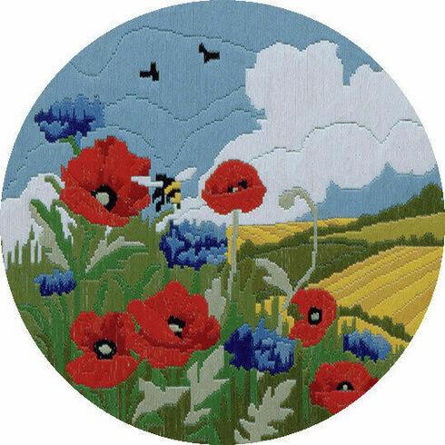 Poppies & Cornflower Long Stitch Kit