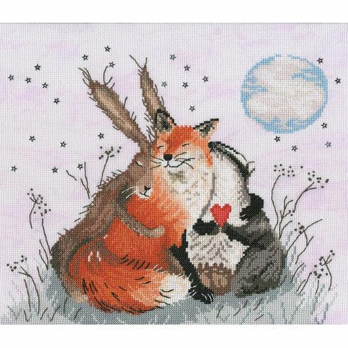 Peace And Huggles Cross Stitch Kit