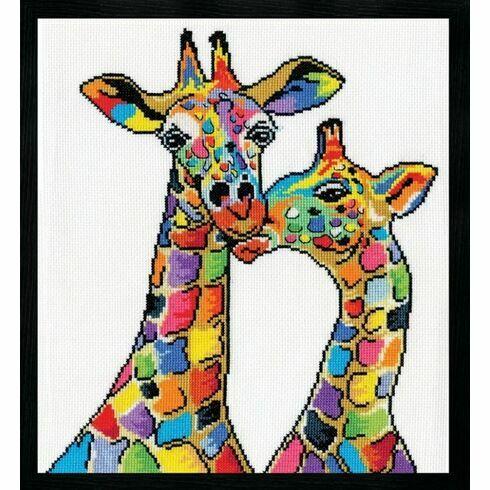 Colourful Giraffes Cross Stitch Kit