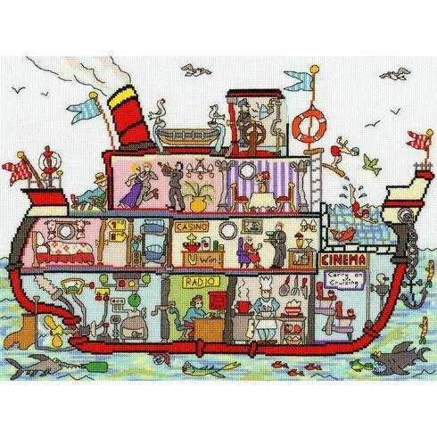 Cut Thru' Cruise Ship Cross Stitch Kit