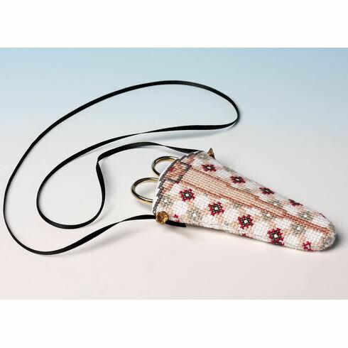 The Victorian Tile Scissor Case 3D Cross Stitch Kit