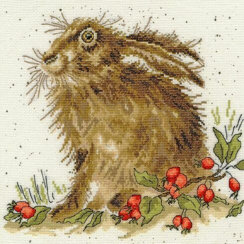 Hippy Hare Cross Stitch Kit