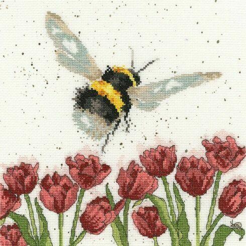 Flight Of The Bumble Bee Cross Stitch Kit